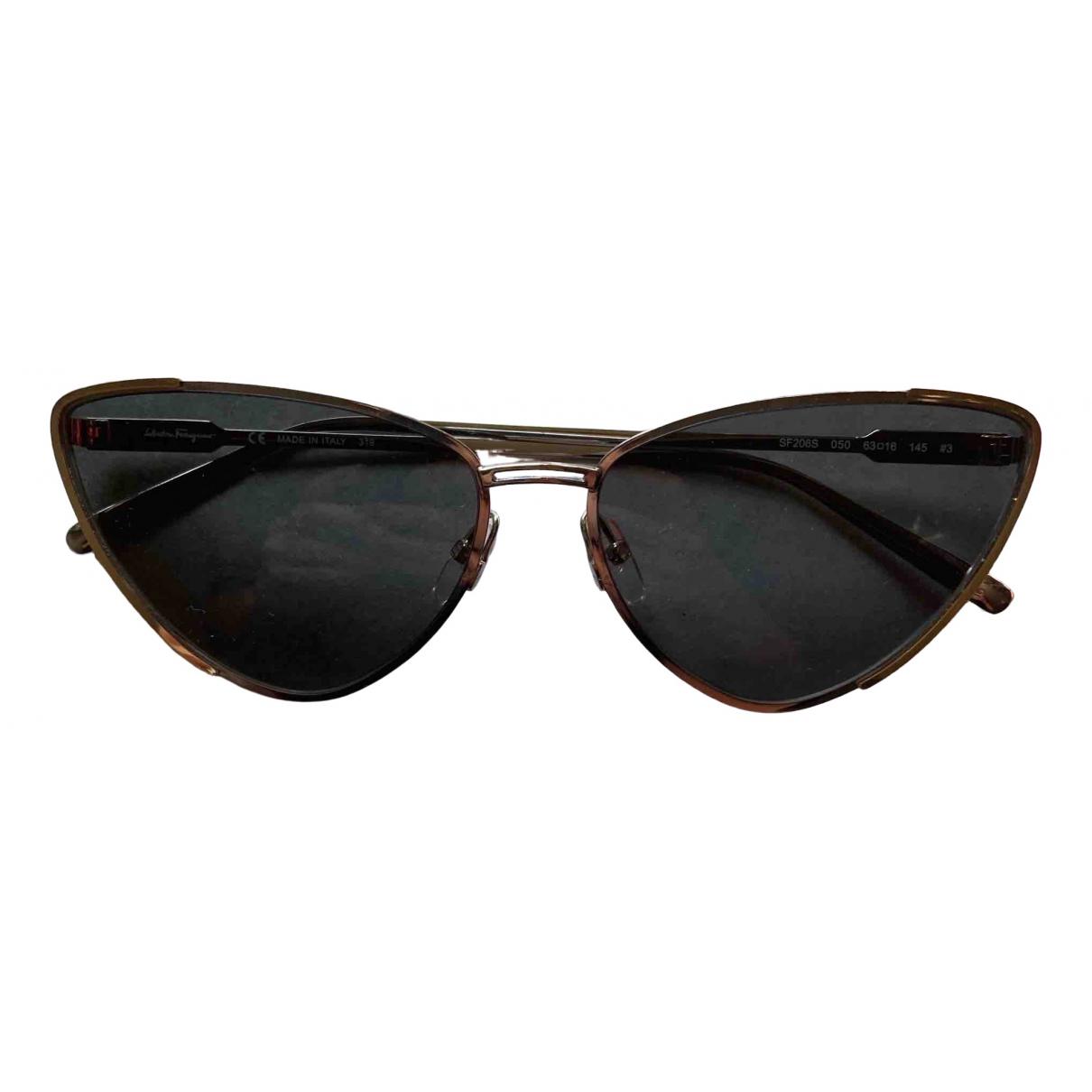 Salvatore Ferragamo \N Sonnenbrillen in  Schwarz Metall