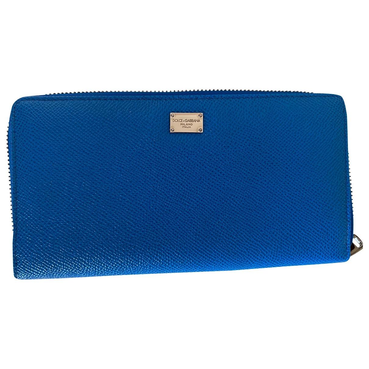 Dolce & Gabbana \N Blue Leather Small bag, wallet & cases for Men \N