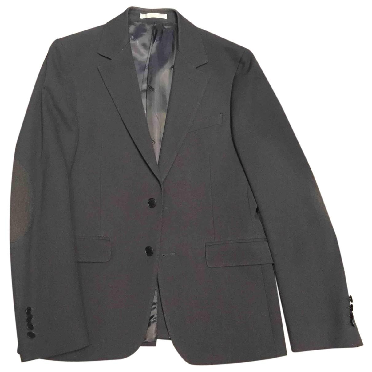 Kenzo N Navy Wool Suits for Men 46 FR