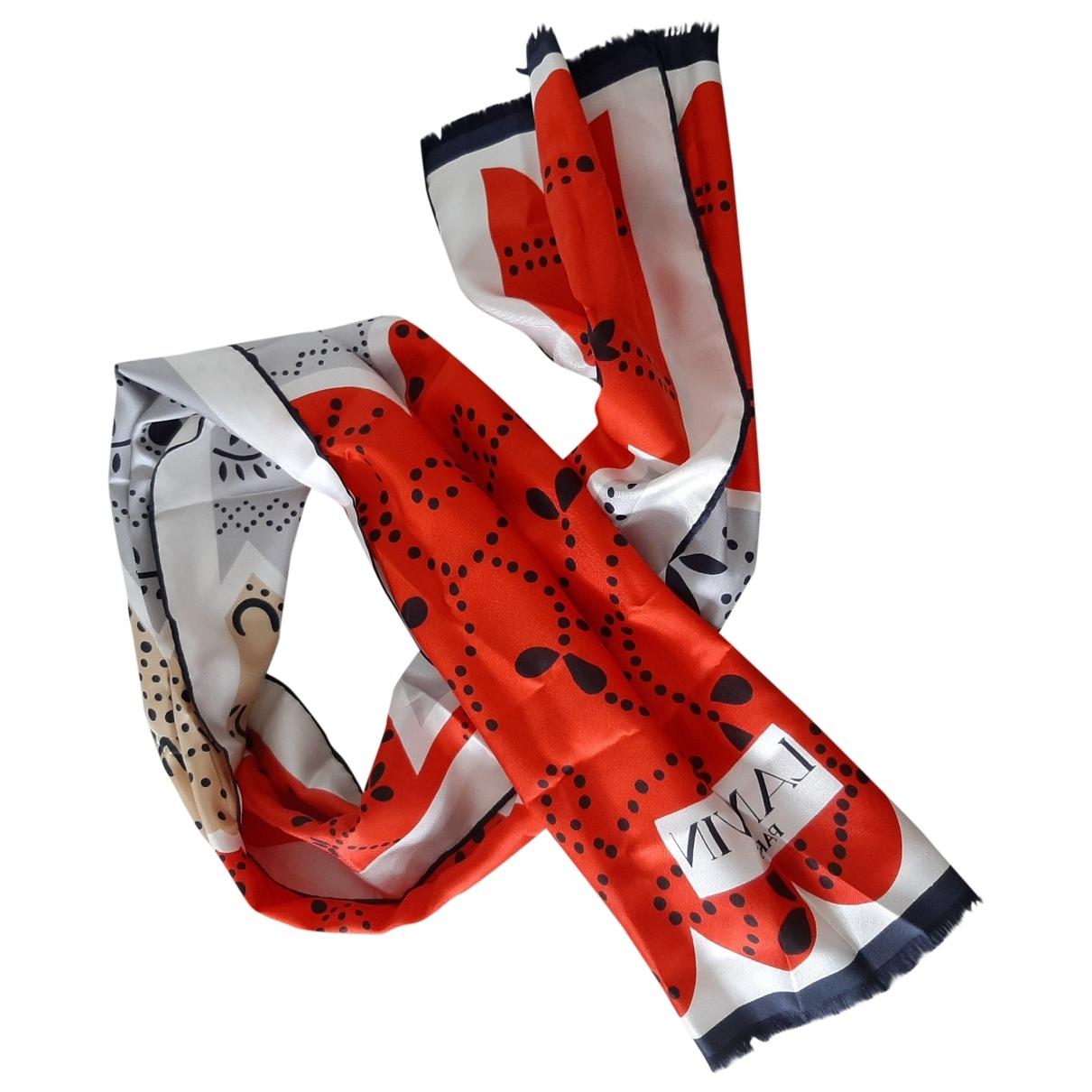 Lanvin \N Tuecher in  Rot Seide