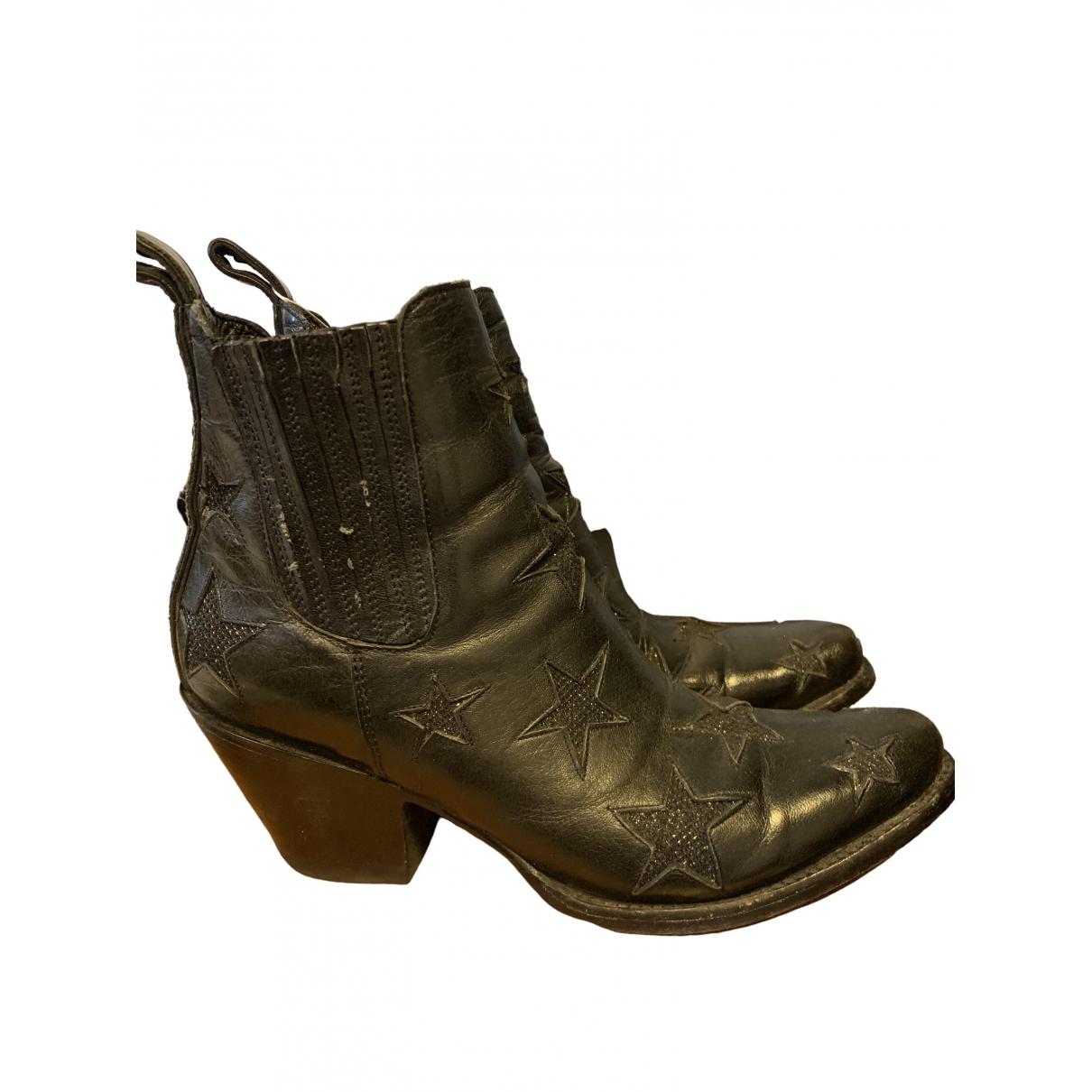 Mexicana - Bottes   pour femme en cuir - noir