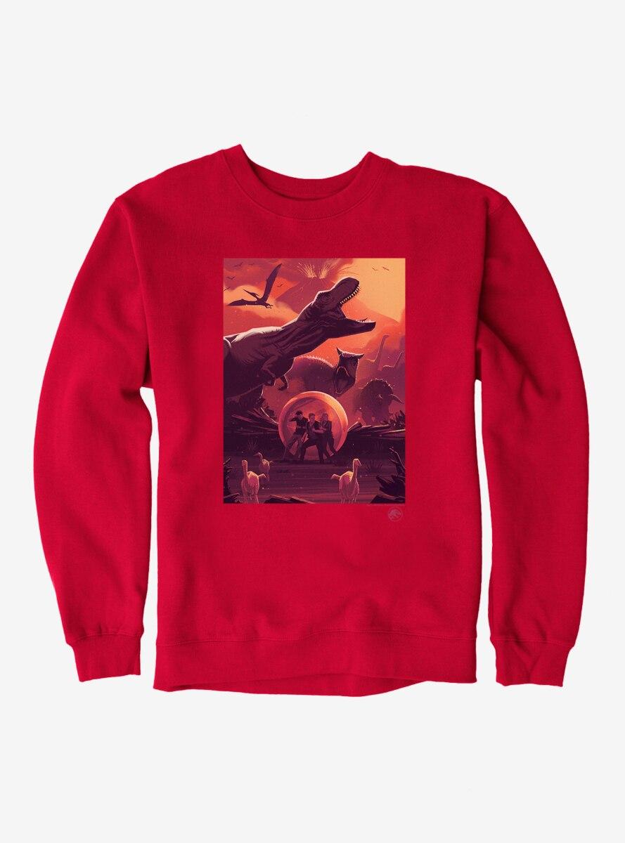 Jurassic World Volcano Eruption Chaos Sweatshirt