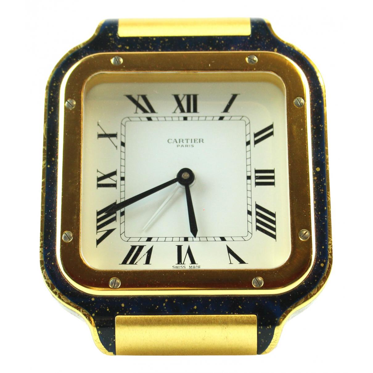 Cartier - Objets & Deco Horloge de voyage Santos pour lifestyle en metal - dore