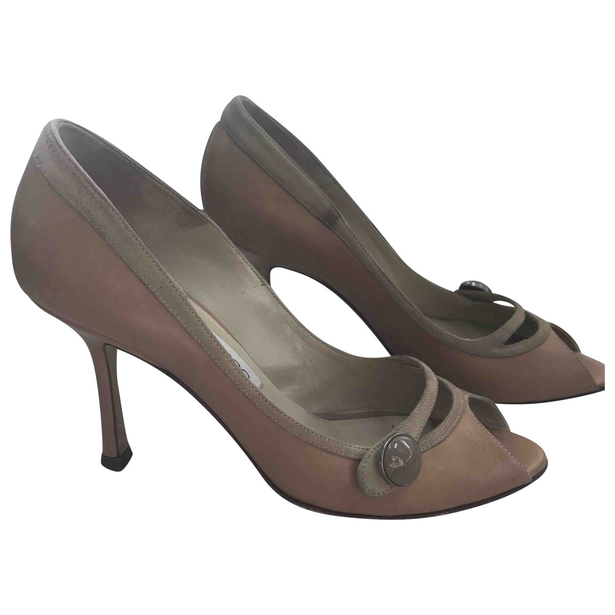 Jimmy Choo \N Beige Leather Heels for Women 37 EU