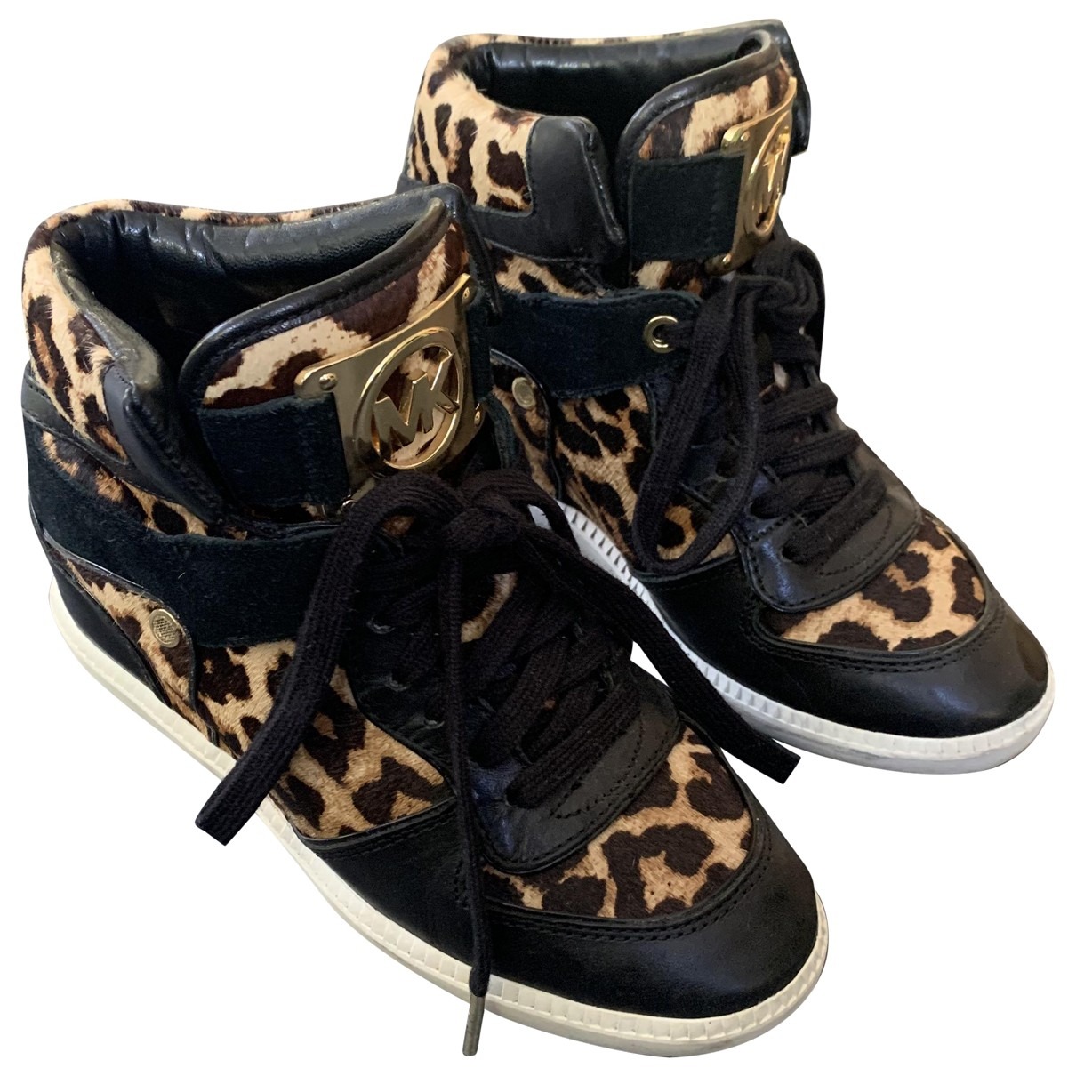 Michael Kors \N Sneakers in  Schwarz Leder