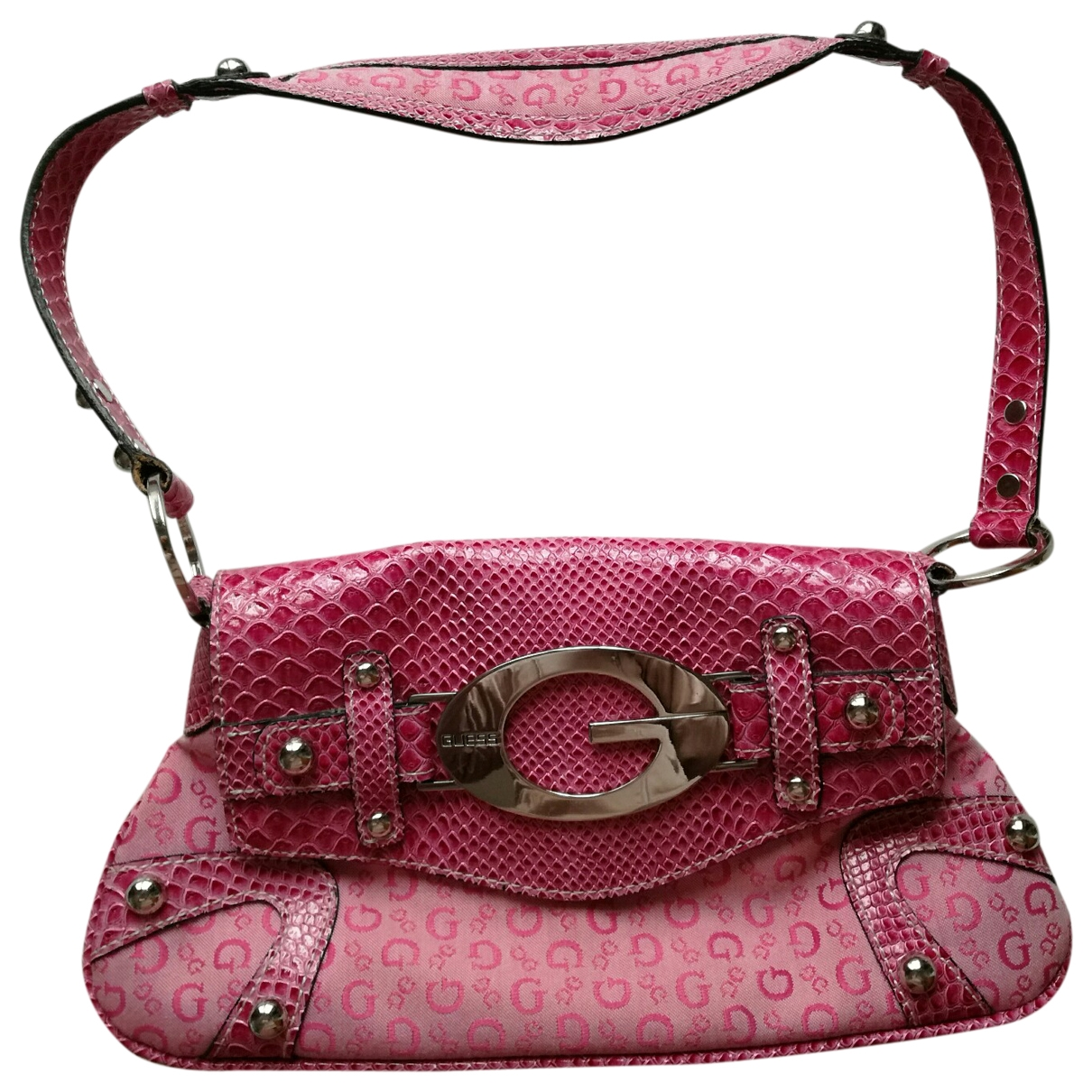 Guess \N Handtasche in  Rosa Polyester