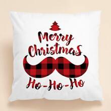 Weihnachten Kissenbezug mit Buchstaben Grafik ohne Fuellstoff