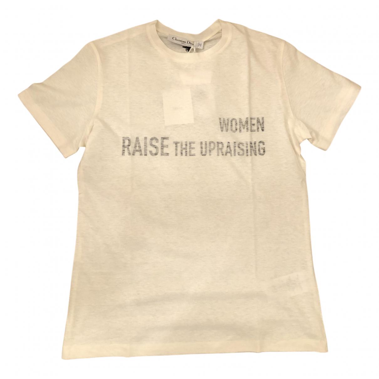 Dior - Top   pour femme en coton - ecru