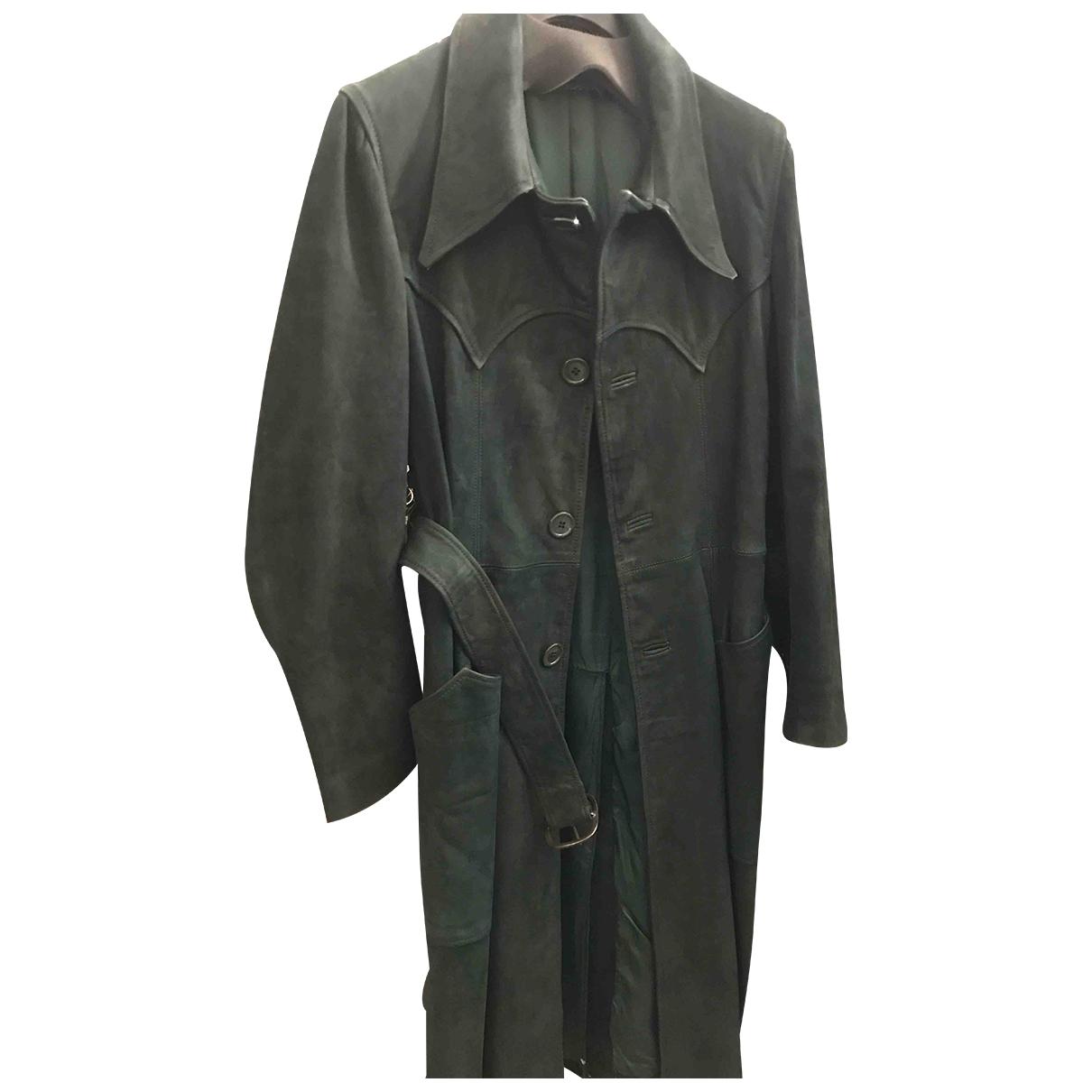 - Manteau   pour femme en cuir - vert