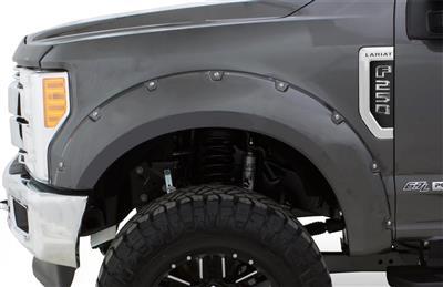 Bushwacker Front and Rear Pocket Style Fender Flares (Black) - 20945-82