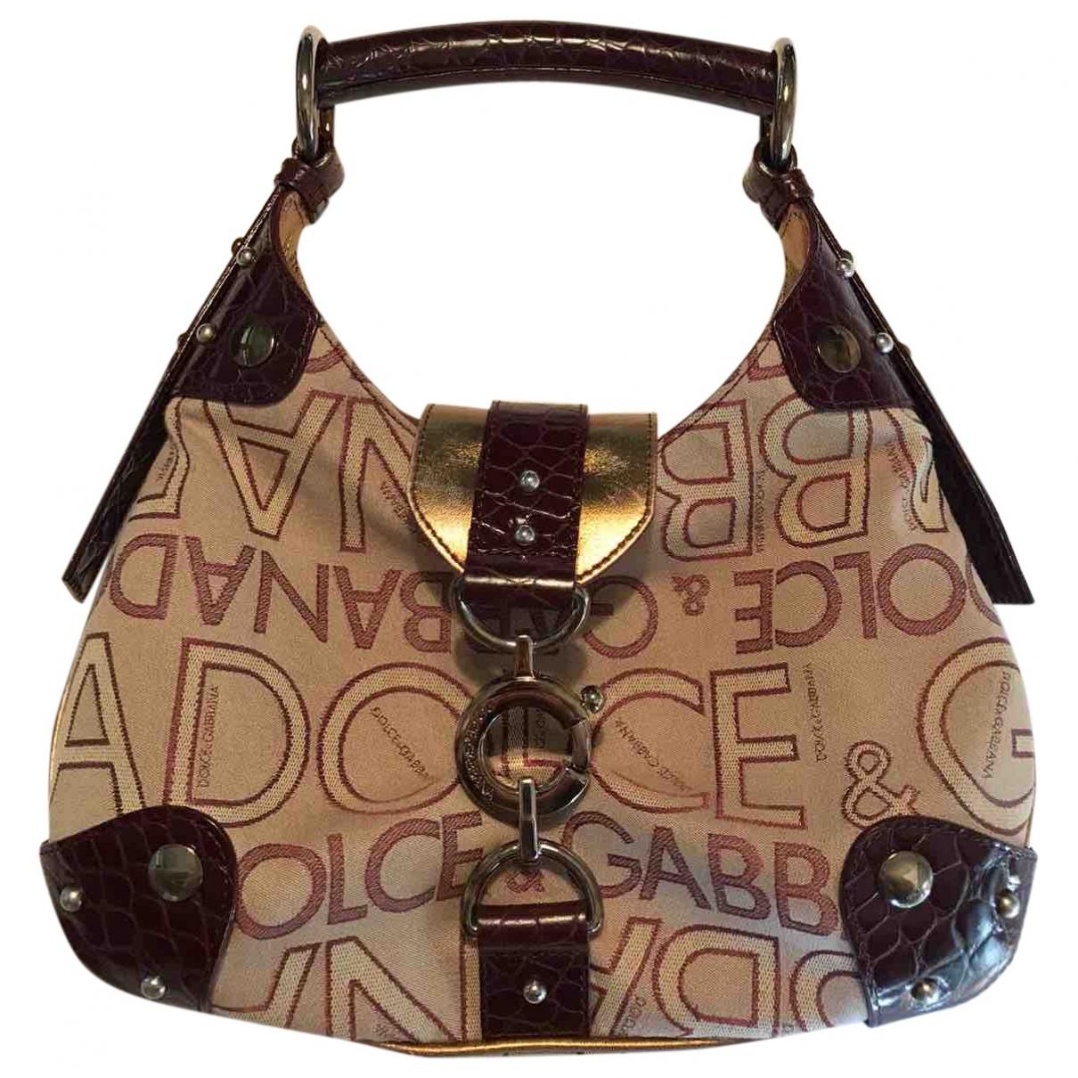 Dolce & Gabbana \N Handtasche in  Bordeauxrot Leinen