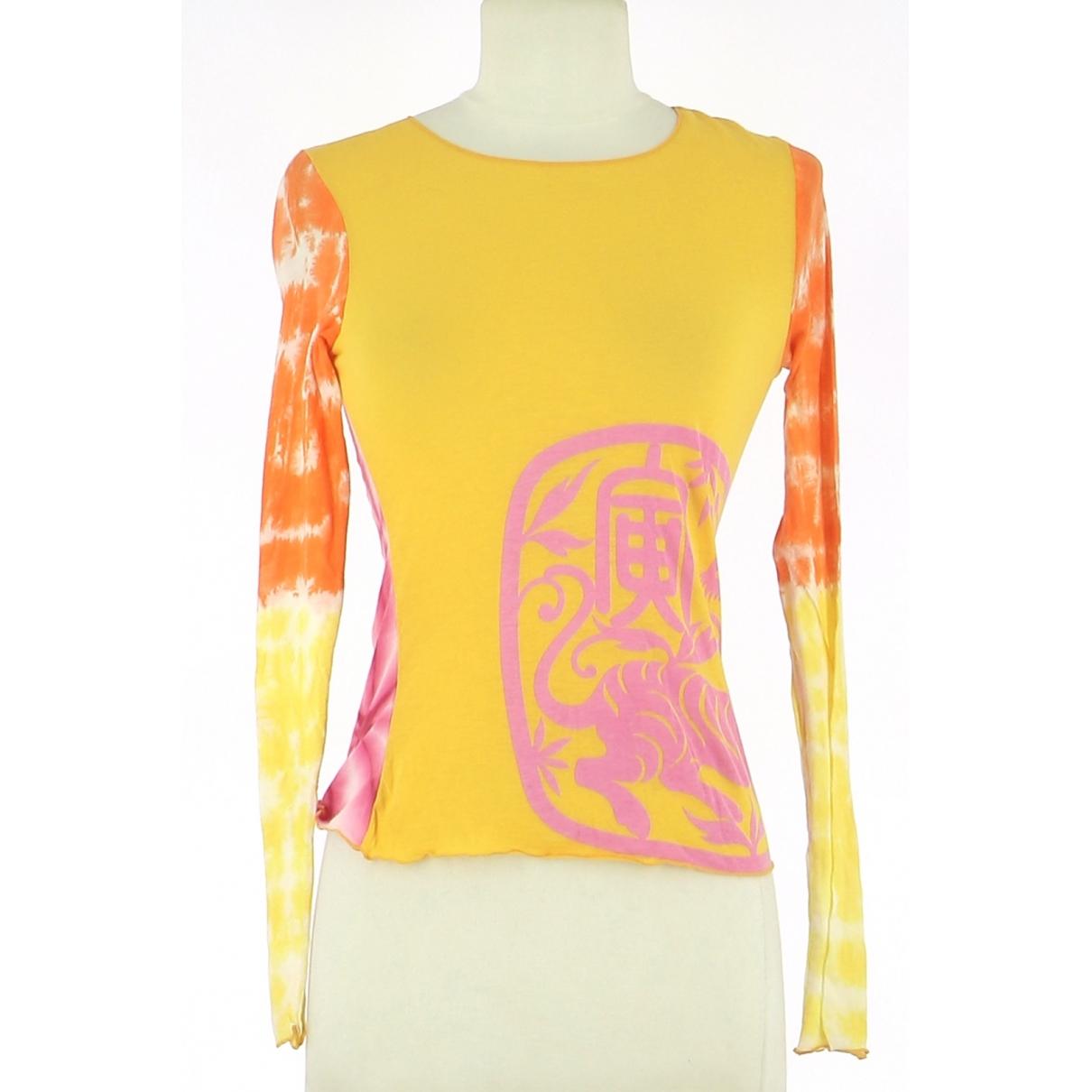 Autre Marque \N Yellow Cotton  top for Women 36 FR