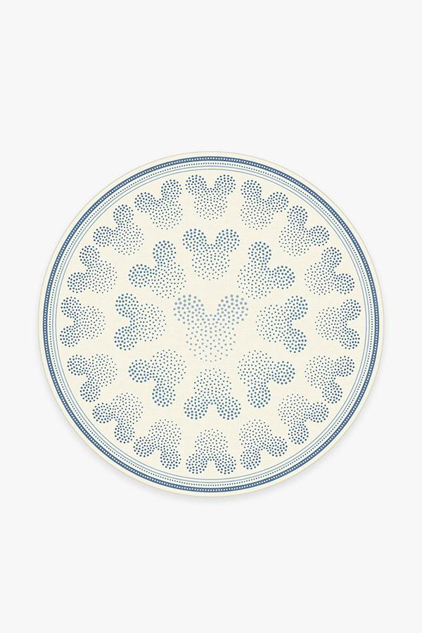 Washable Rug Cover | Mickey Ombre Blue Rug | Stain-Resistant | Ruggable | 6' Round