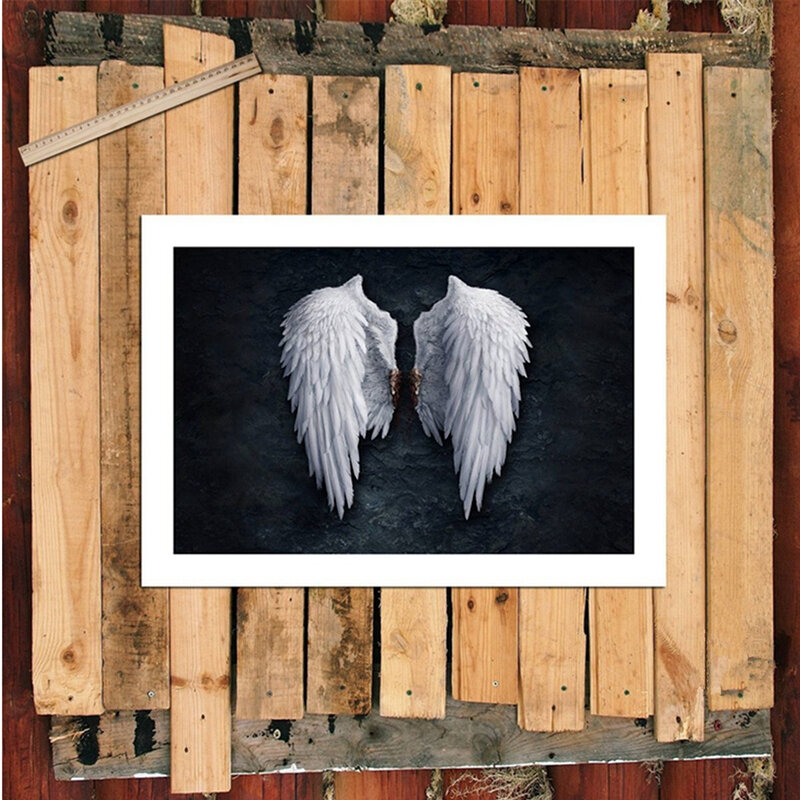 Unframed Angel Wings Fashion Abstract Wall Art Painting Living Room Bedroom Artwork Decor