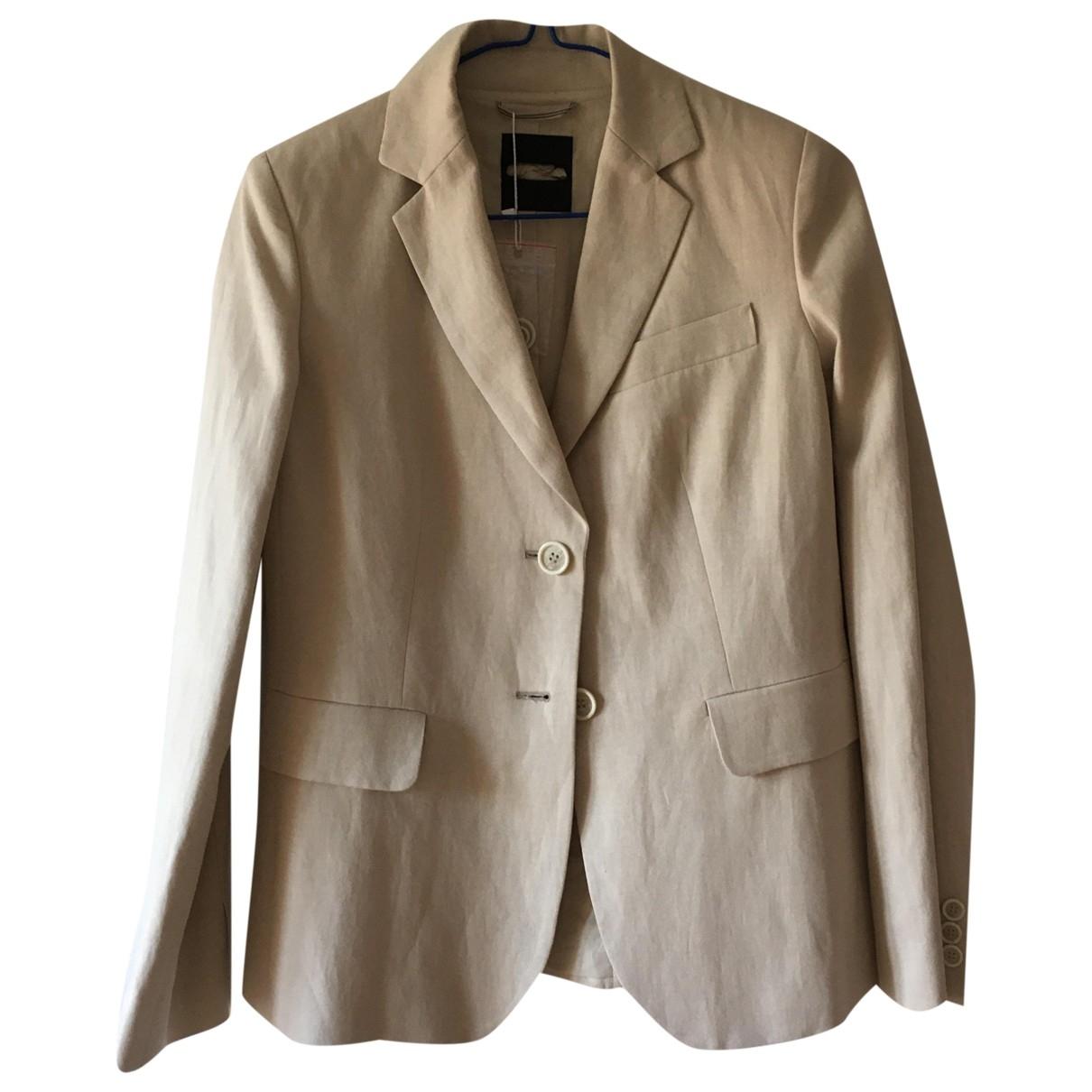 Max Mara Weekend \N Beige Linen jacket for Women 36 IT