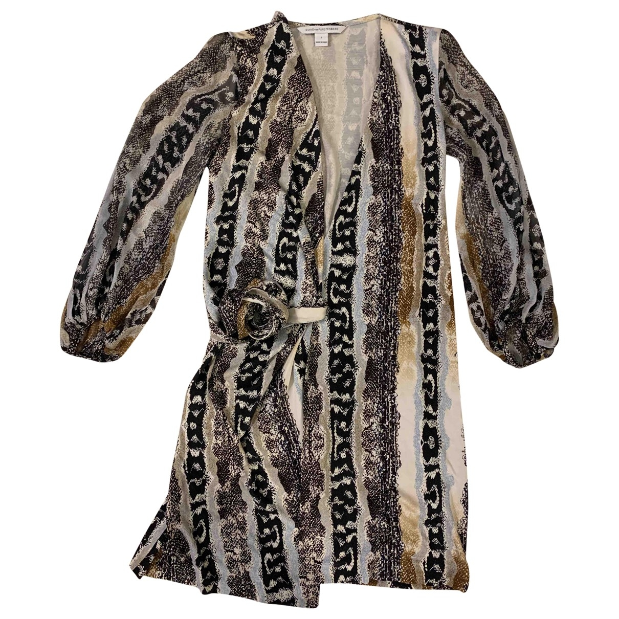 Diane Von Furstenberg \N Beige Silk dress for Women 2 US