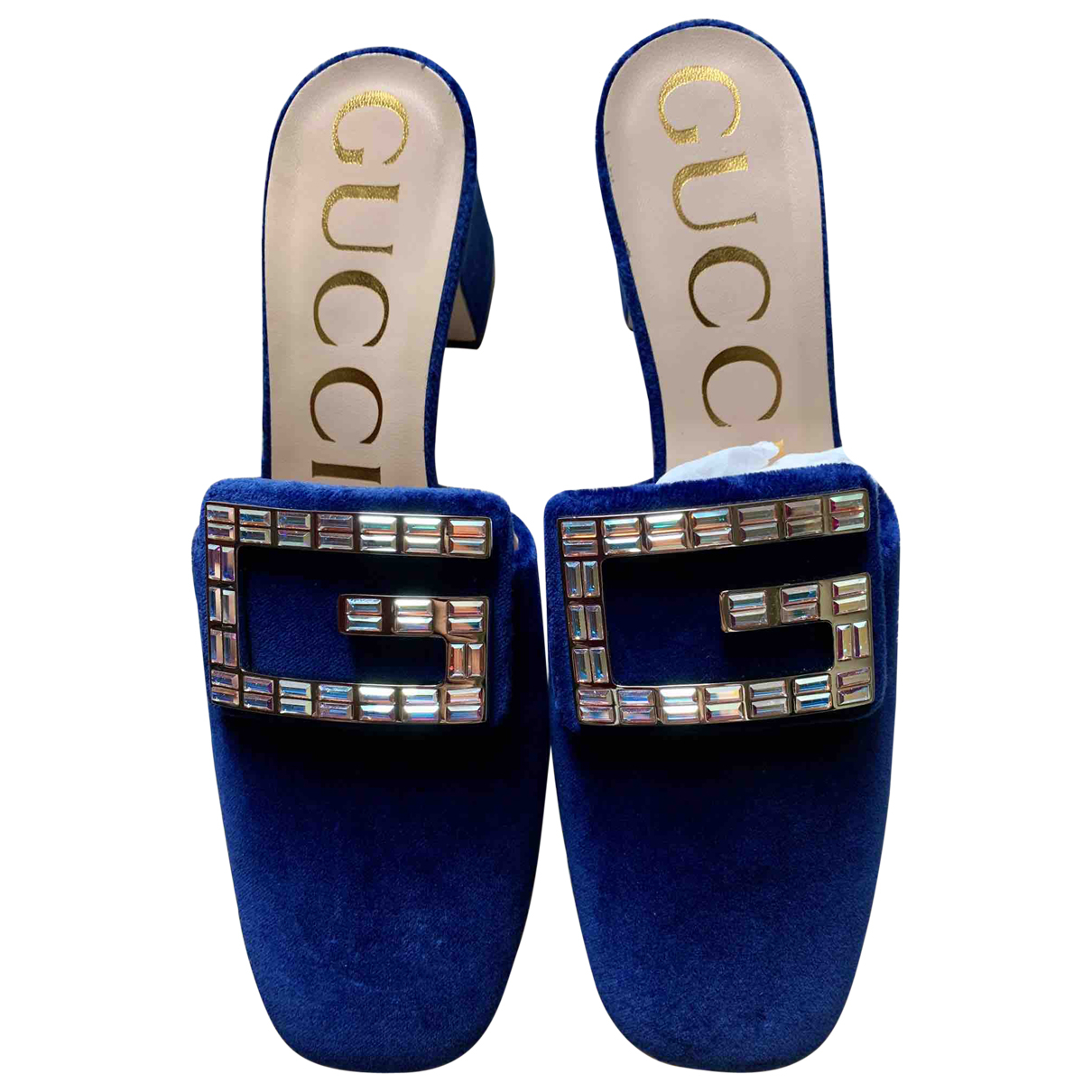 Gucci \N Pumps in  Blau Samt