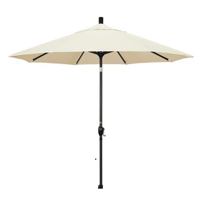 GSPT908302-SA53 9' Pacific Trail Series Patio Umbrella With Stone Black Aluminum Pole Aluminum Ribs Push Button Tilt Crank Lift With Pacifica Canvas