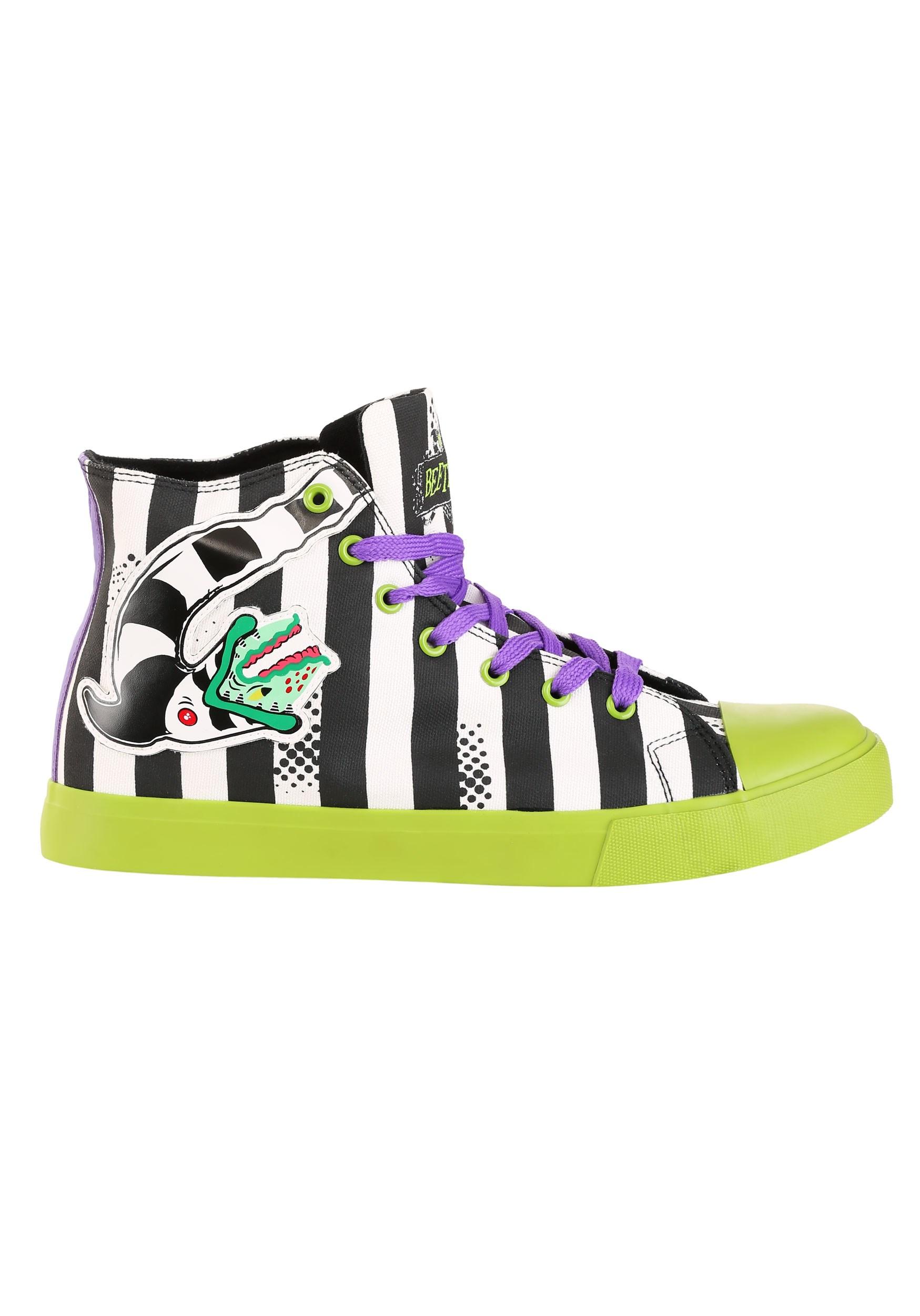 Striped Beetlejuice Unisex Sneakers