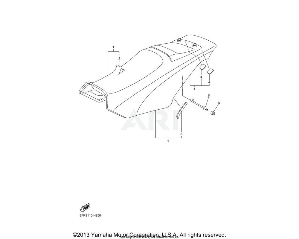 Yamaha OEM 8GU-24710-80-00 SINGLE SEAT ASSY   RTRYB (8GU5)