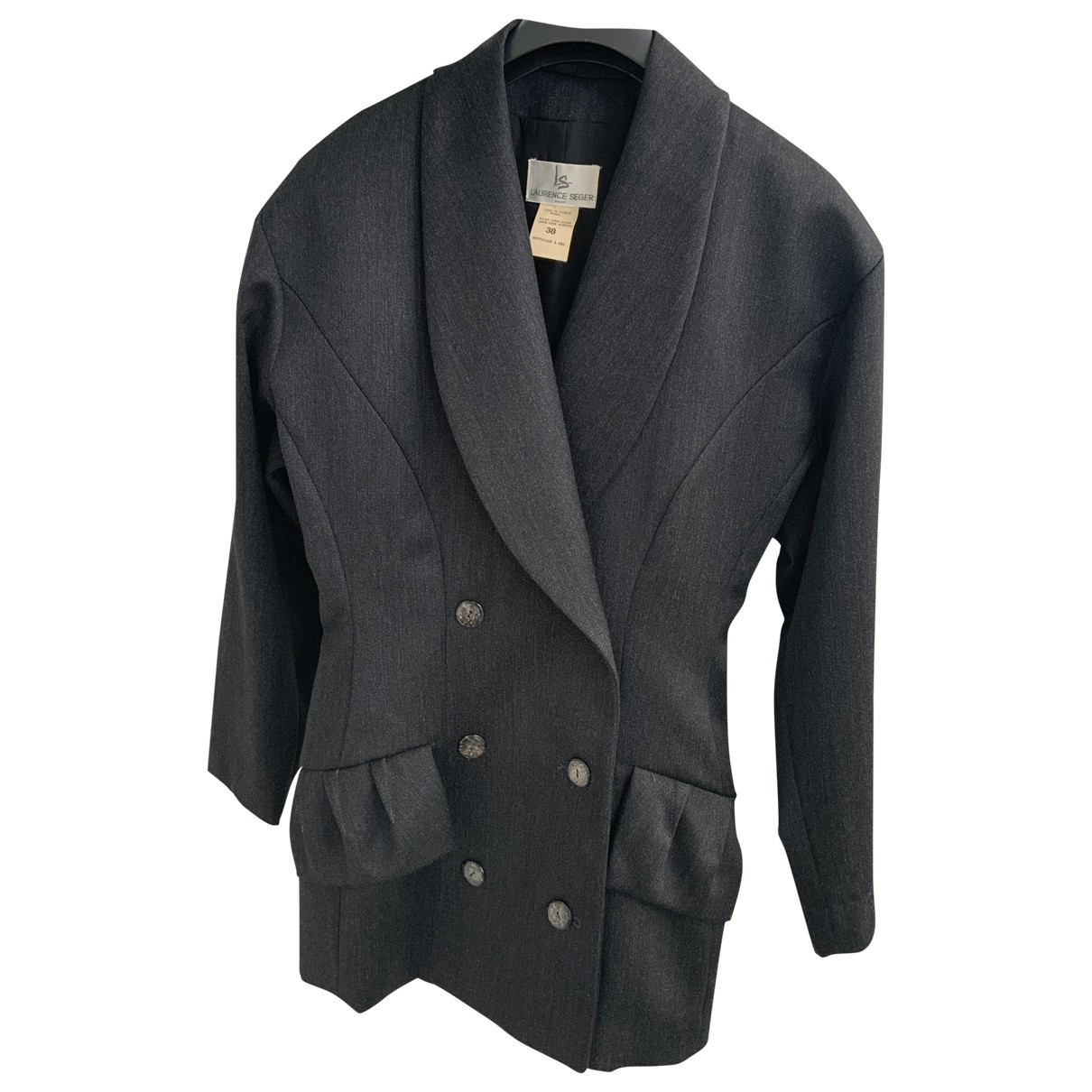 Non Signé / Unsigned \N Anthracite Wool jacket for Women 38 FR