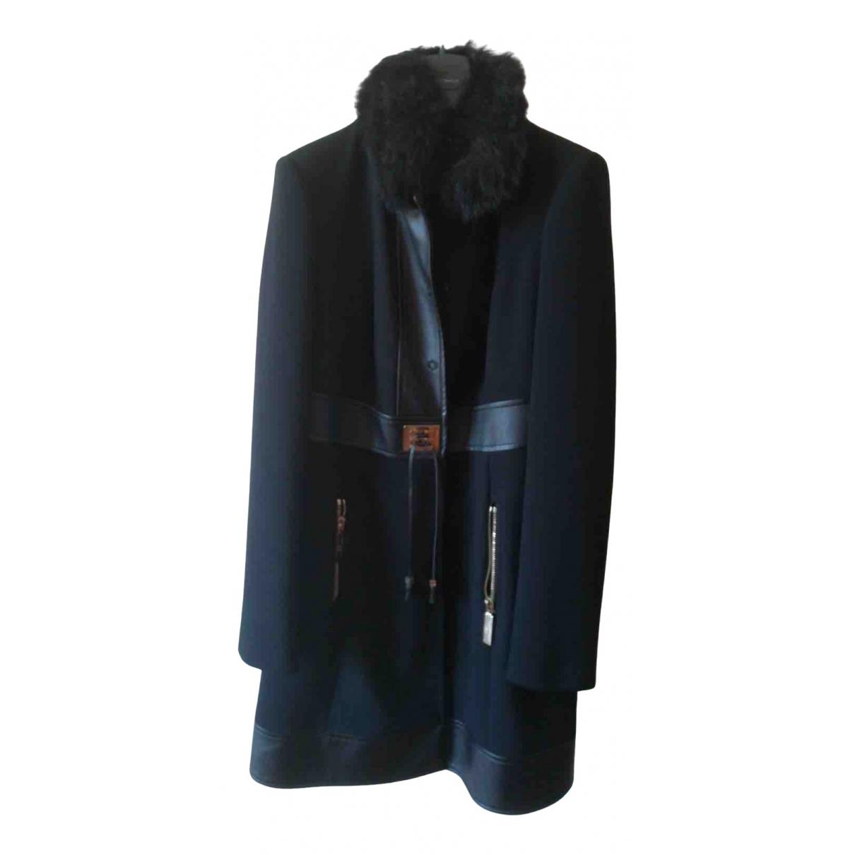 Elisabetta Franchi - Manteau   pour femme en laine - noir