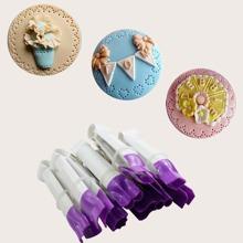 10 piezas pinzas de decoracion de pasteles