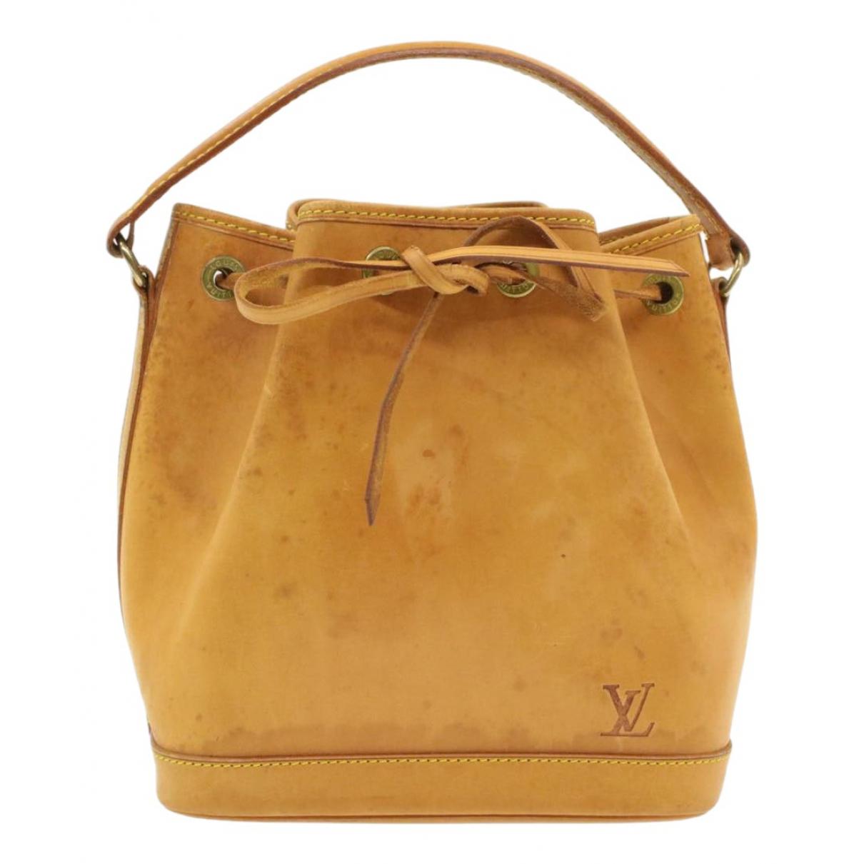 Louis Vuitton - Sac a main Noe pour femme en cuir - beige