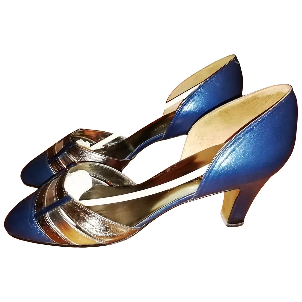 Fratelli Rossetti - Escarpins   pour femme en cuir - bleu