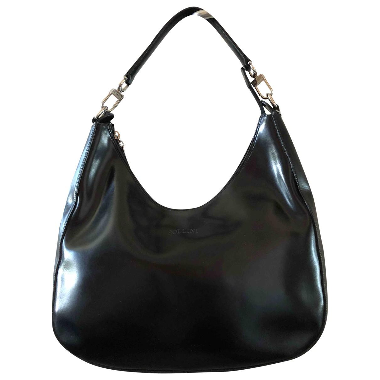 Pollini \N Handtasche in  Schwarz Leder