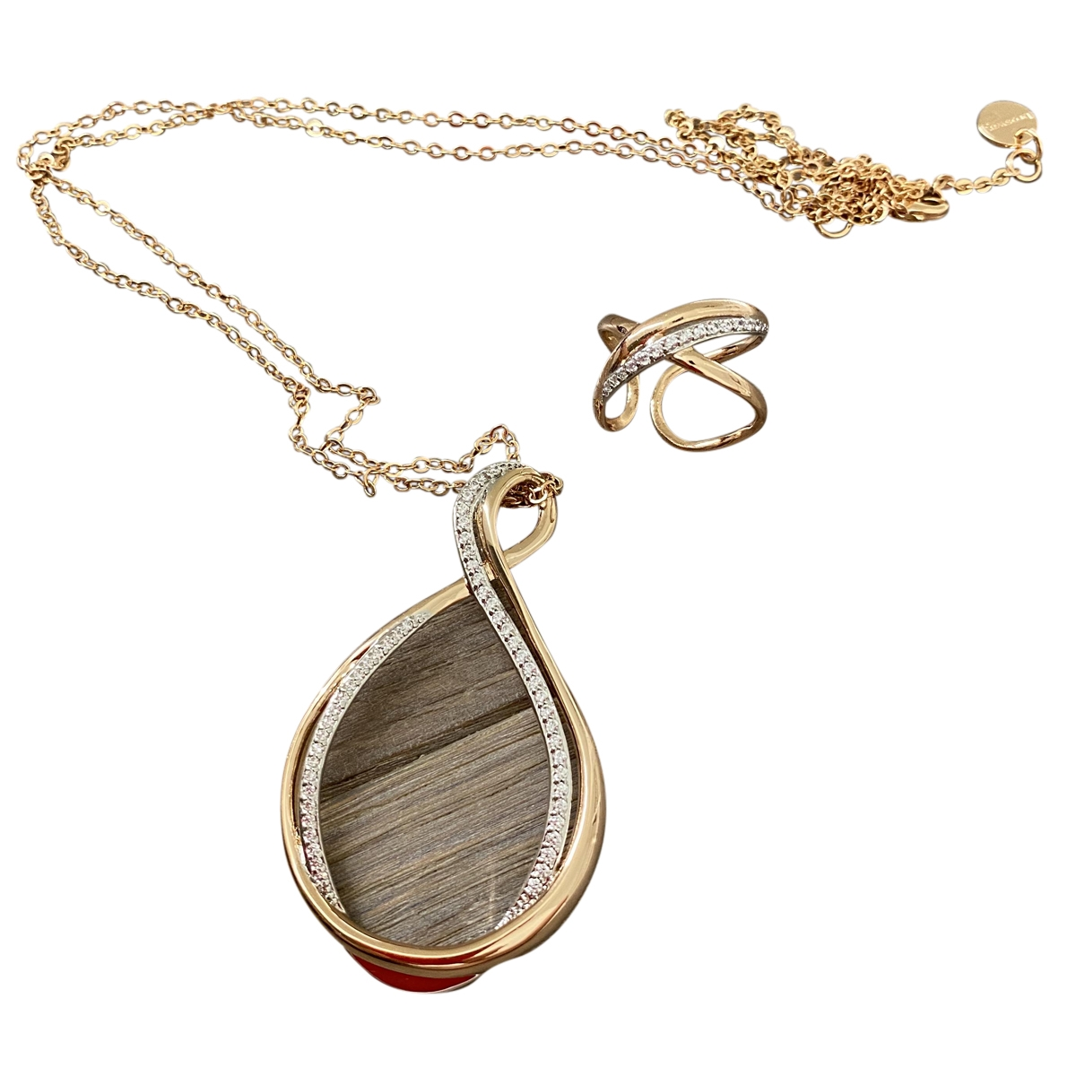 Non Signé / Unsigned \N Gold Gold plated Jewellery set for Women \N