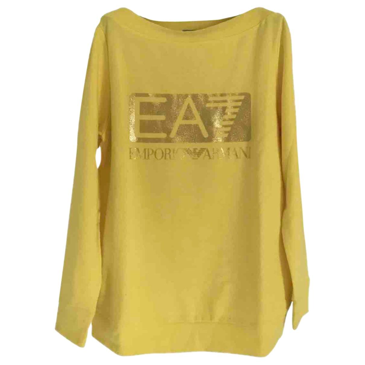 Emporio Armani - Pull   pour femme en coton - jaune