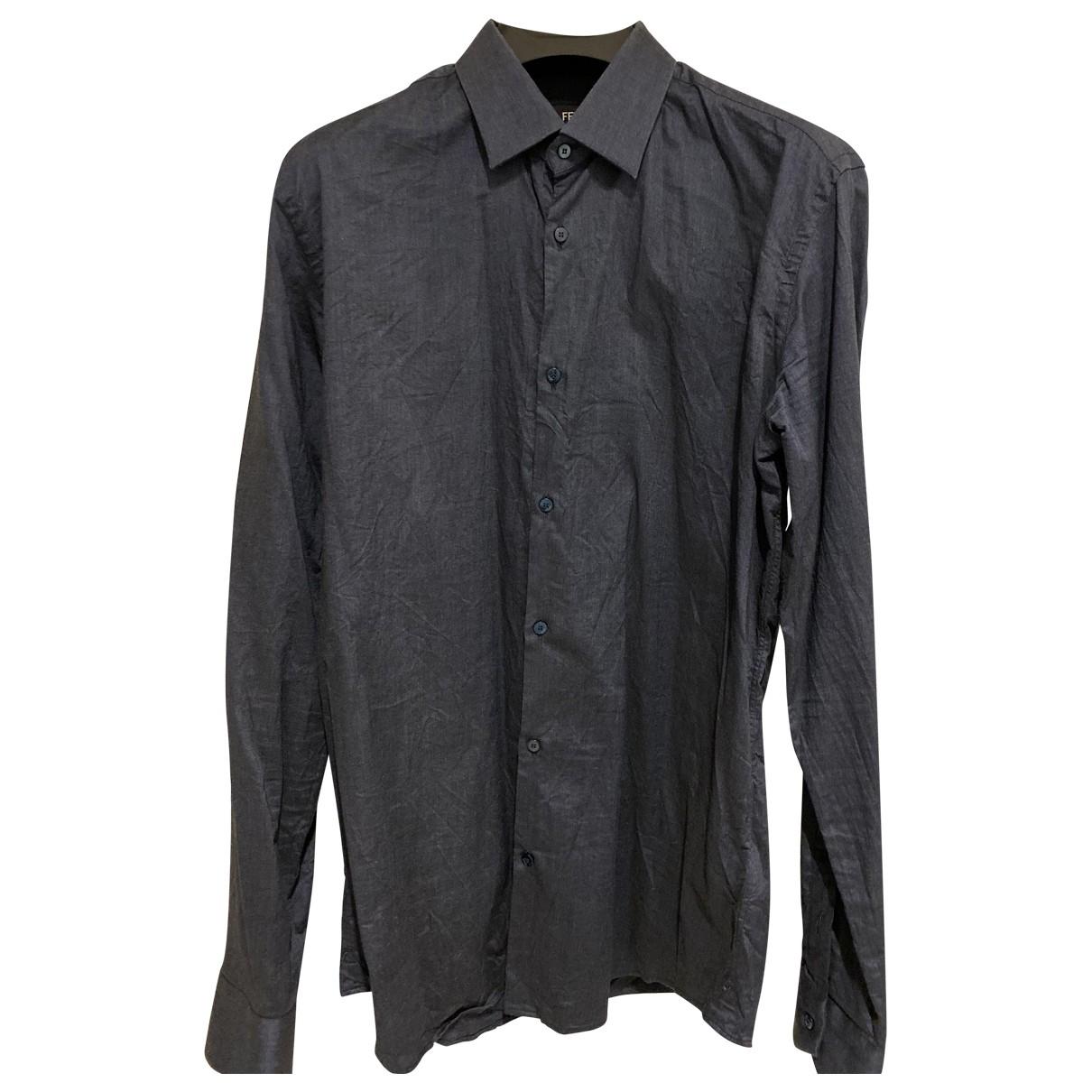 Fendi \N Hemden in  Marine Baumwolle
