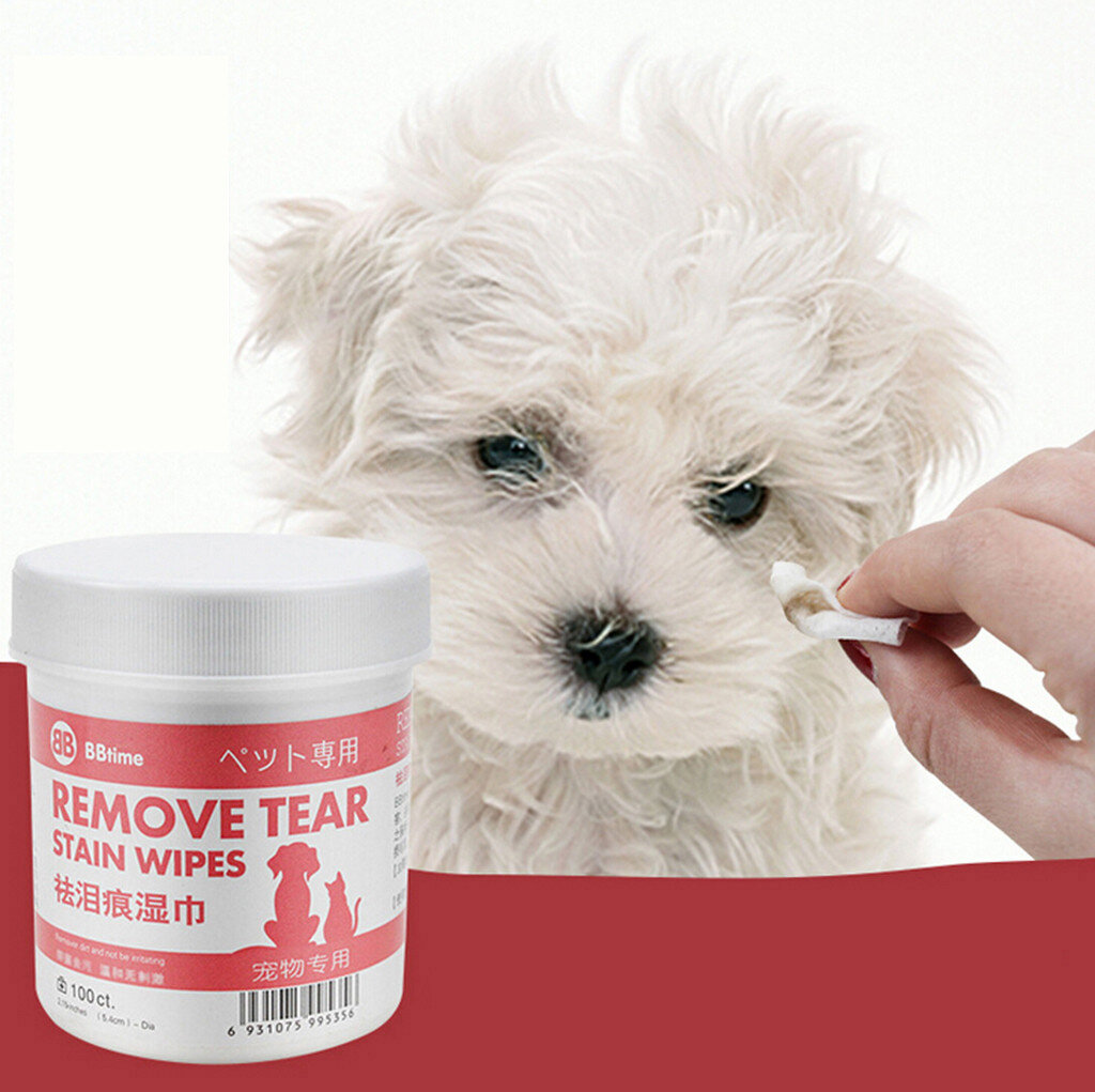 100pcs/Set Pet Eye Wet Wipes Dog Cleaning Paper Towels Eyes Wet Wipes