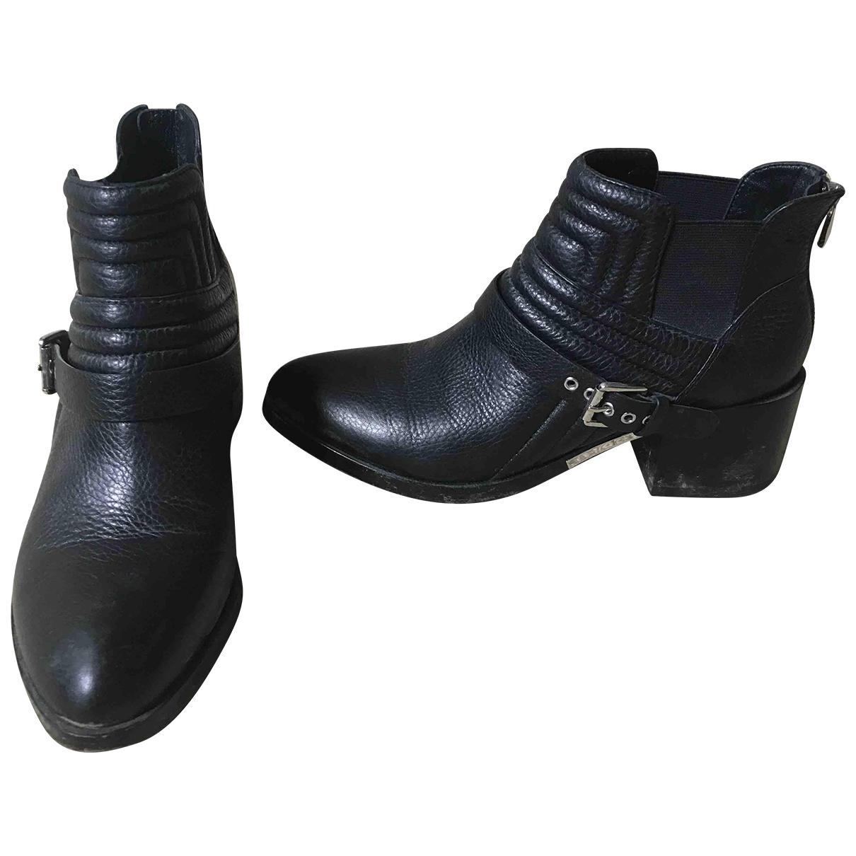 Sigerson Morrison \N Stiefel in  Schwarz Leder