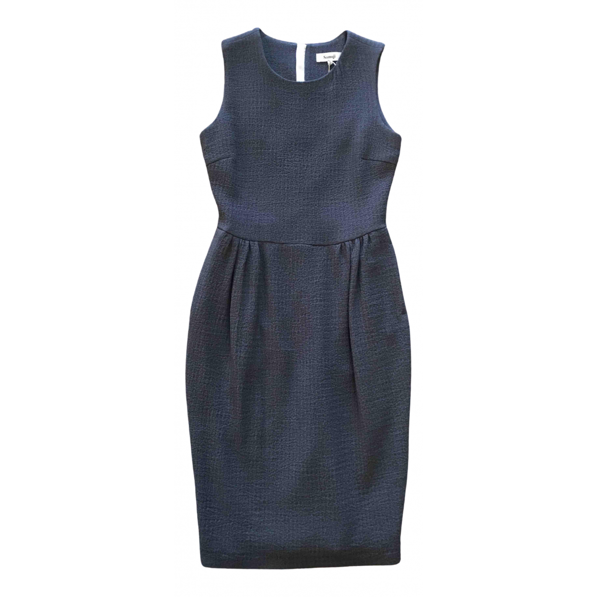 Samuji \N Kleid in  Grau Wolle