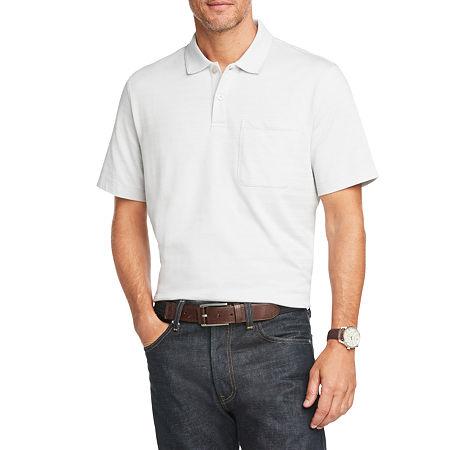 Van Heusen Mens Flex Short Sleeve Polo Shirt, X-large , Gray