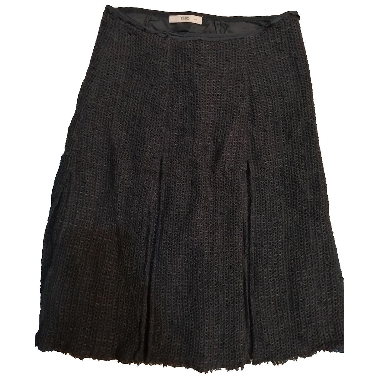 Prada - Jupe   pour femme en laine - anthracite