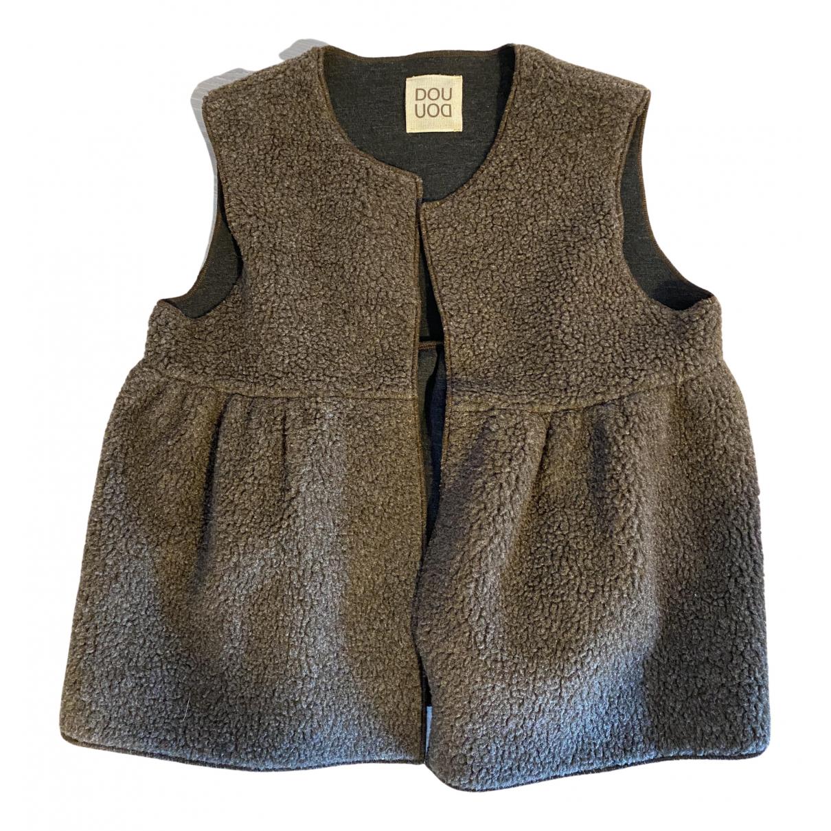 Douuod - Pull   pour enfant en laine - marron