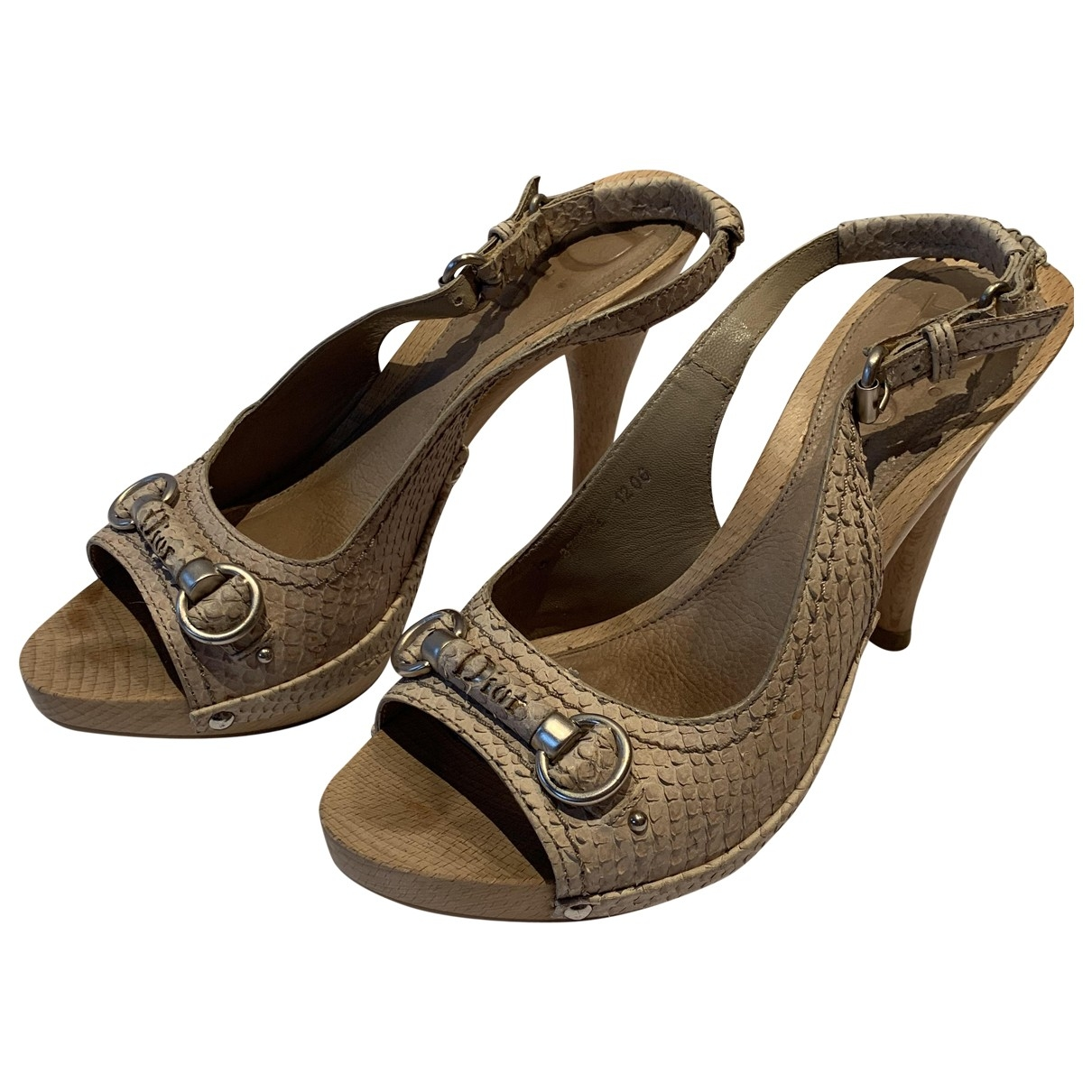 Dior \N Sandalen in  Beige Wasserschlangen