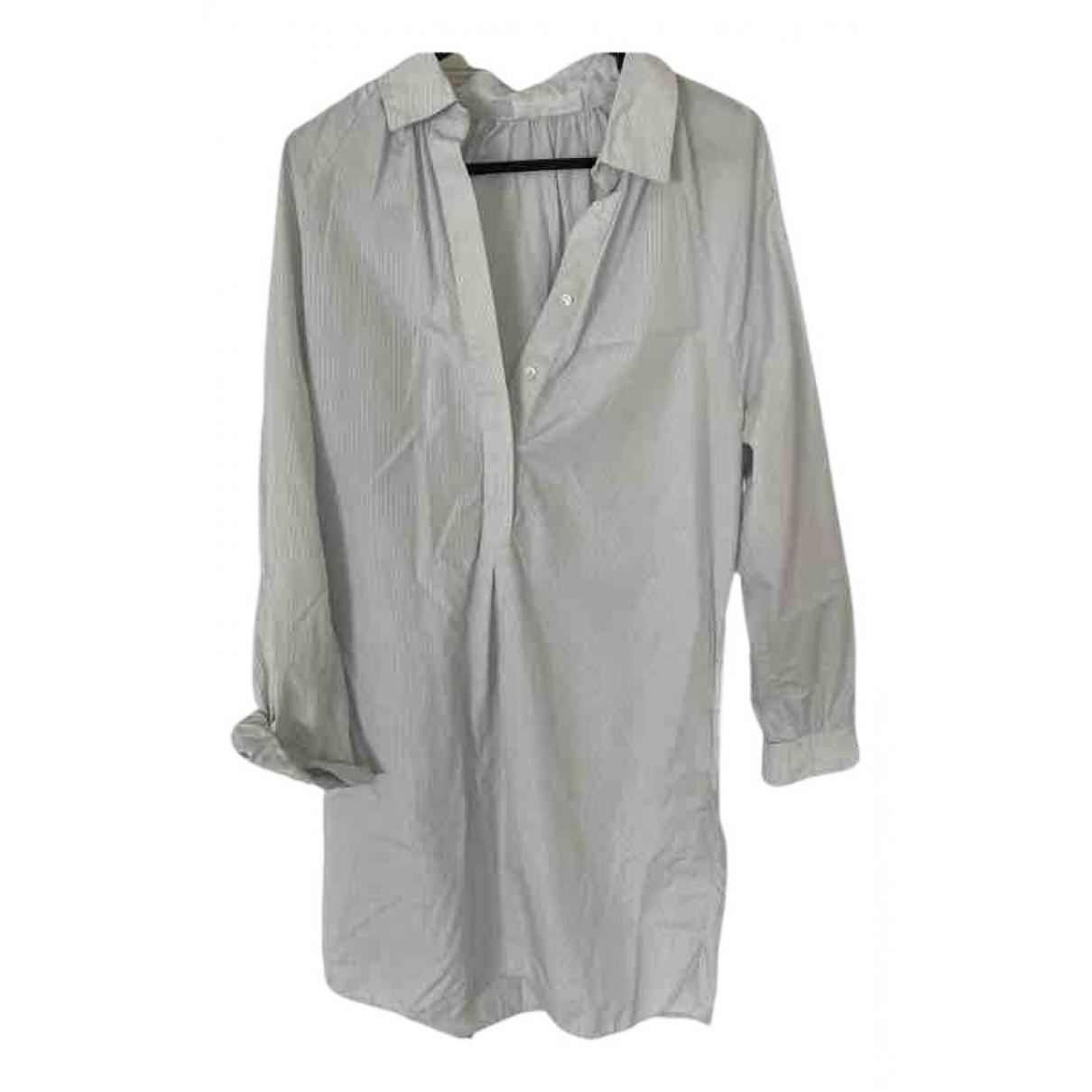 Atea Oceanie - Robe   pour femme en coton - blanc