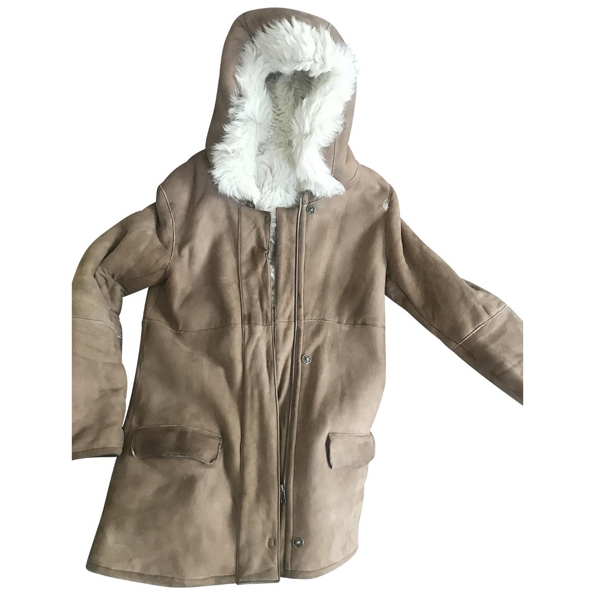 Joseph - Manteau   pour femme en suede - beige