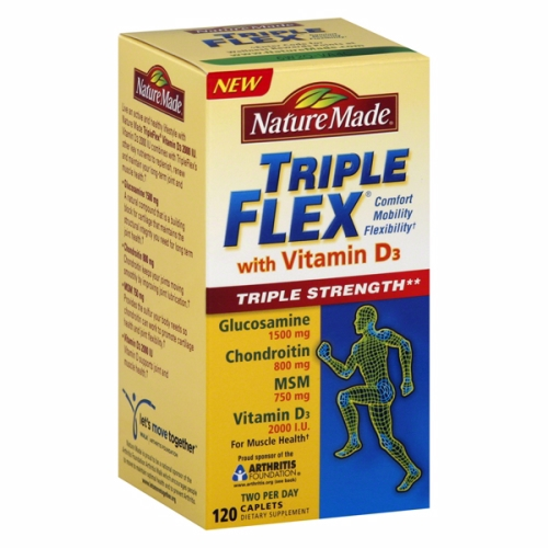 Triple Flex with Vitamin D3 120 Caplets by Nature Made