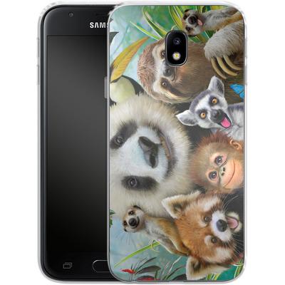 Samsung Galaxy J3 (2017) Silikon Handyhuelle - Zoo Selfie von Howard Robinson
