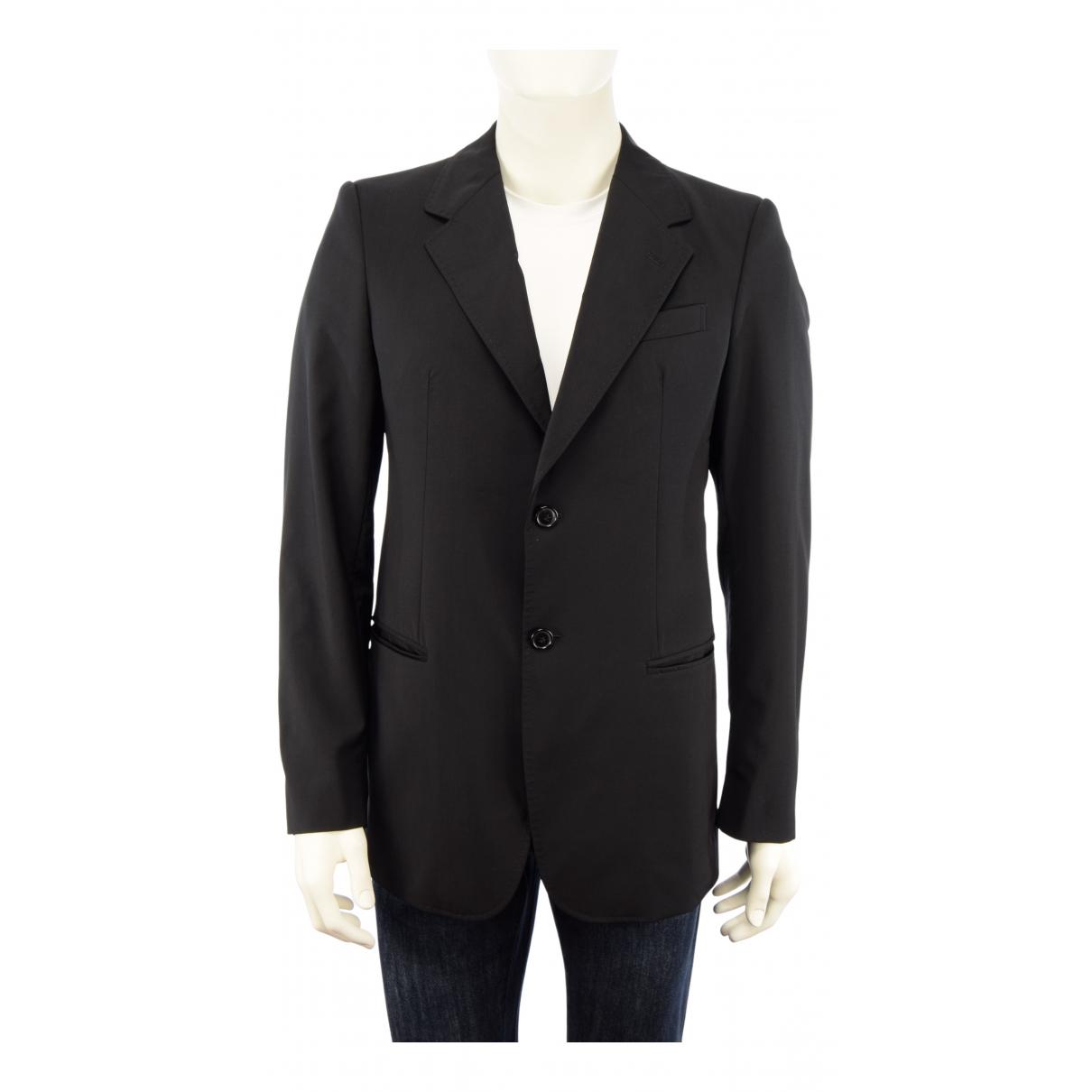 Emporio Armani N Black Wool jacket  for Men 50 IT