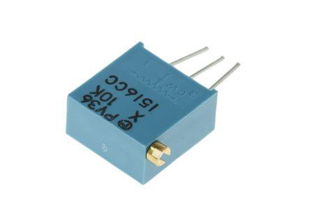 Bourns 10kΩ, Through Hole Trimmer Potentiometer 0.5W Side Adjust , PV36