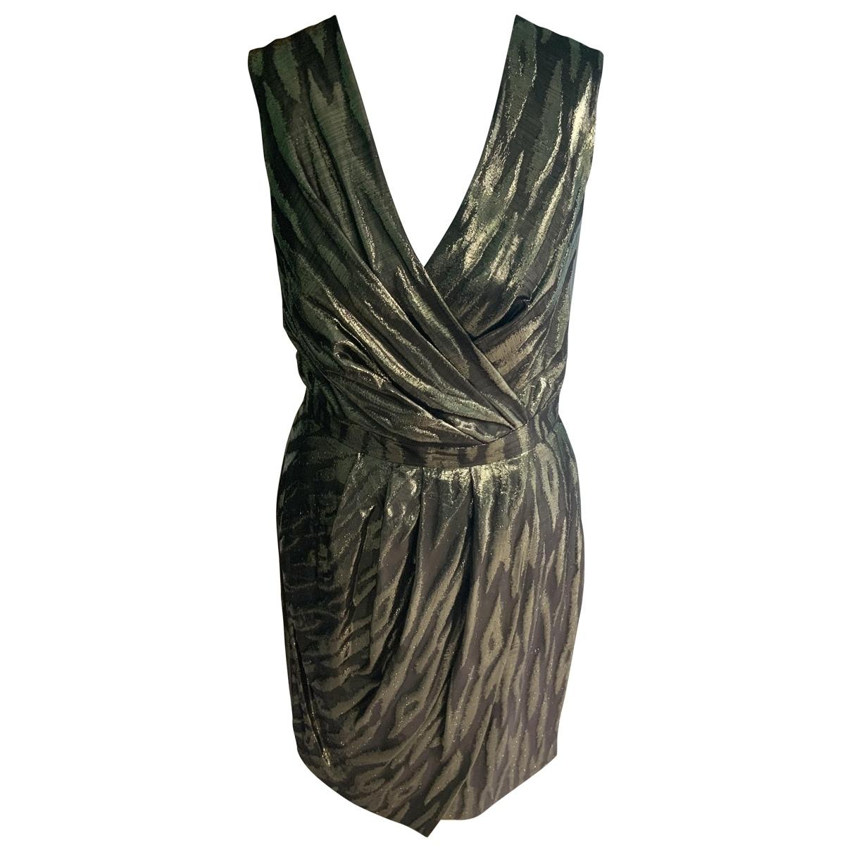 Mulberry \N Gold Silk dress for Women 8 UK
