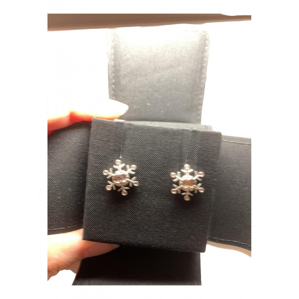 Chanel CHANEL Silver Metal Earrings for Women \N