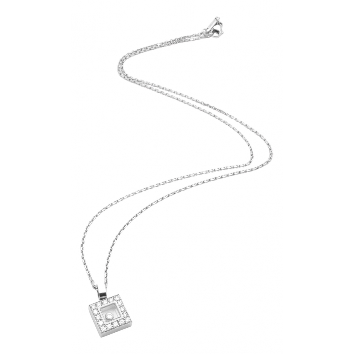 Chopard Happy Diamonds Silver White gold necklace for Women N
