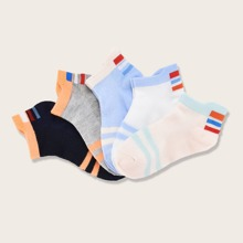 5pairs Toddler Boys Striped Socks